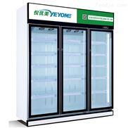 二门三门内拉手饮料柜镜面黑钛金饮品冷藏柜