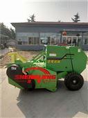 拖拉机带鲜玉米秸秆粉碎打包机