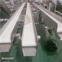 厂家直销白色PU皮带小型皮带不锈钢输送机