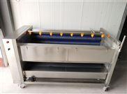 热销土豆去皮机 自动喷淋毛辊清洗机