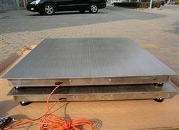 化工厂1吨防腐蚀电子地磅 2T不锈钢地秤
