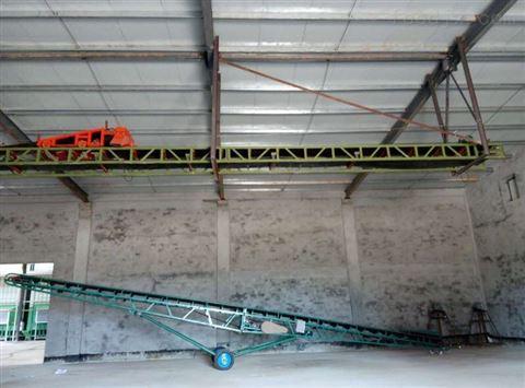 食品爬坡输送机 刮板装车传送机 悬挂流水线