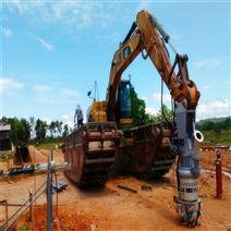 鱼塘挖机液压污泥泵 钩机清淤泵改善水质
