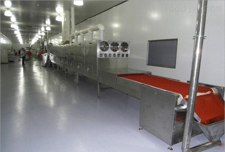 青岛辣椒碎烘干杀菌设备厂家康来微波