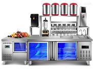 惠州惠阳奶茶店设备全套操作台冷藏冰柜