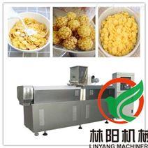 雙螺桿膨化機設備 早餐谷物玉米片生產設備