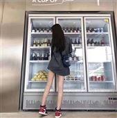 鄭州中牟定做便利店飲料柜價格風幕柜定做