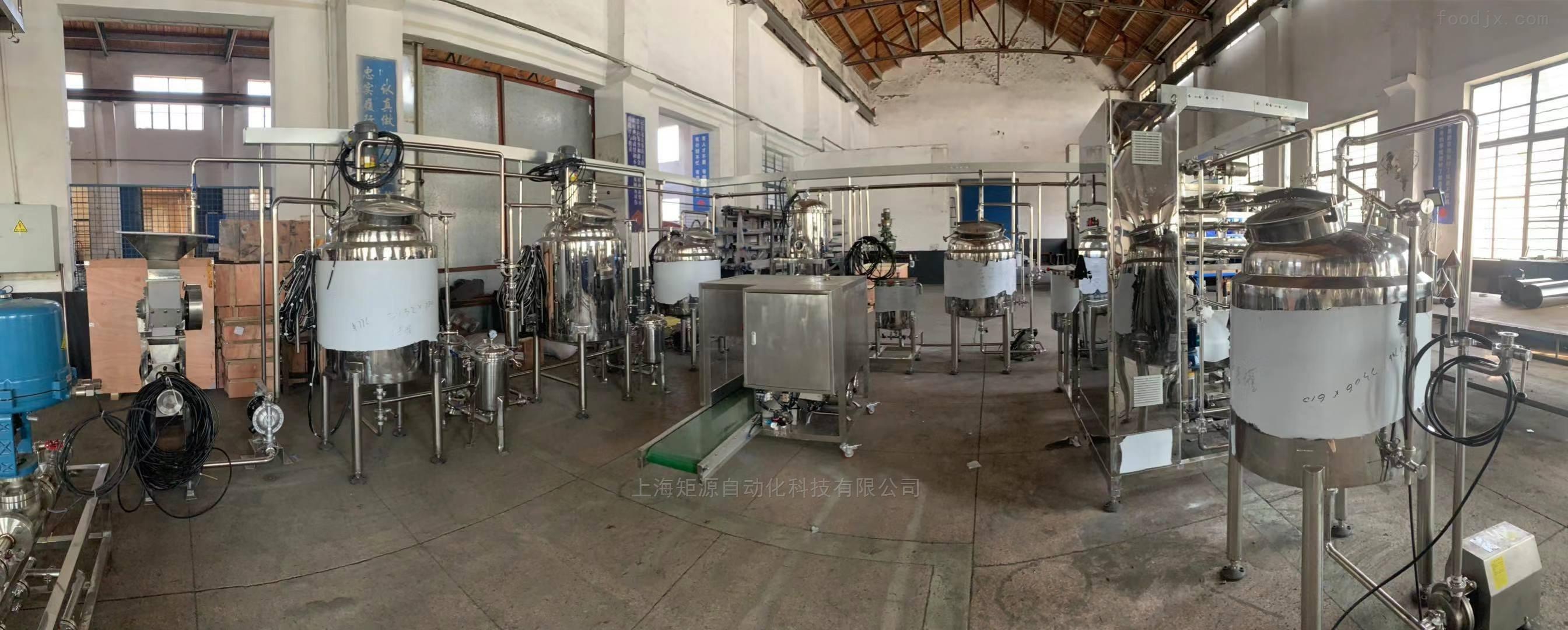 不锈钢全自动含汽水饮料灌装生产线