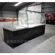 黔南超市双面弧形玻璃展示柜