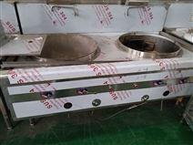 上海廠家供應燃氣不銹鋼雙頭大鍋灶