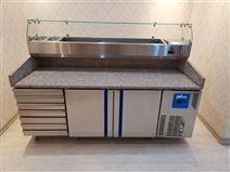 研满大理石抽屉式带烤盘两门冷藏保鲜工作台