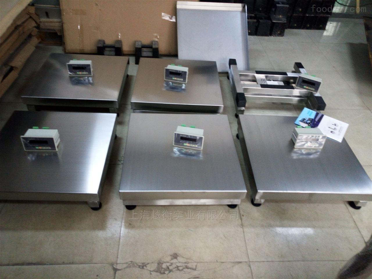 食品加工厂里防腐防水不锈钢电子台秤300KG