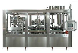 玻璃瓶矿泉水三旋盖灌装生产线