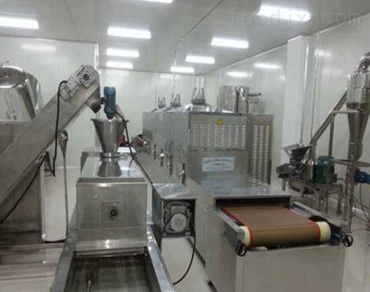 供应连续式隧道式黄粉虫微波烘干机