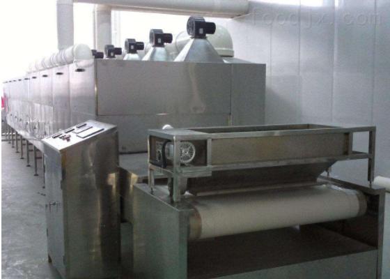 大虾微波烘烤烘焙设备生产批发一条线