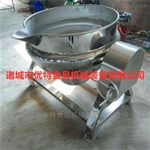 肉制品蒸煮锅 不锈钢带搅拌夹层锅