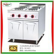 EH-887C立式电热四头煮食炉连柜座