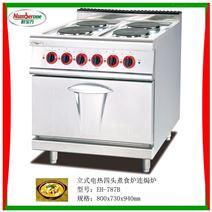 立式电热四头煮食炉连焗炉