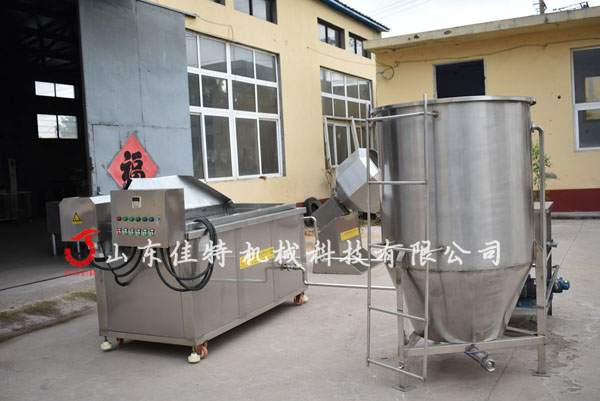 <strong>廣東漢堡肉餅油炸機成型油炸連續生產</strong>