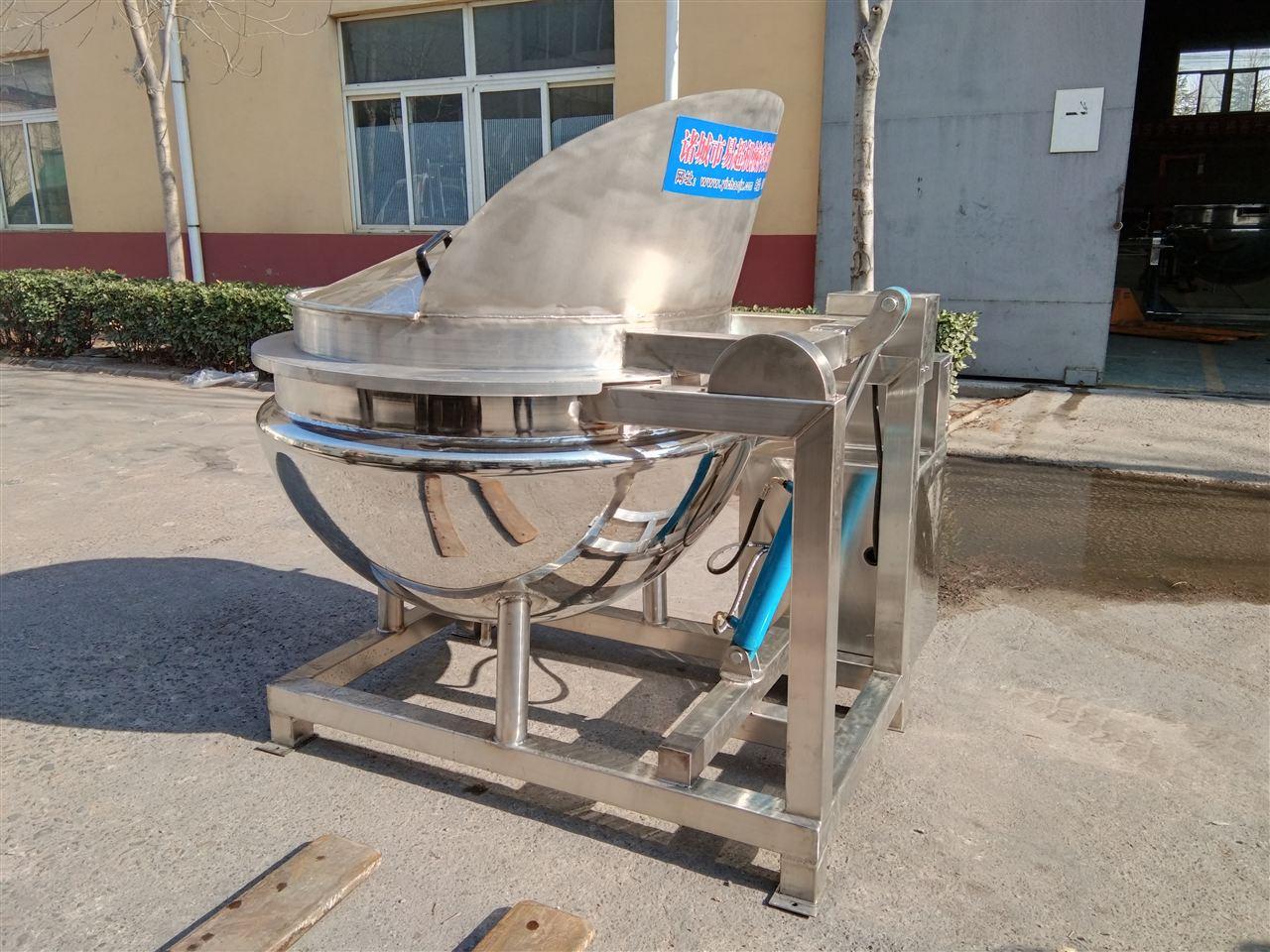 液压出料夹层锅